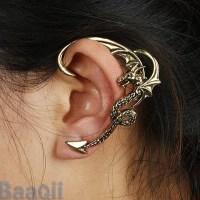 HOT Fly Dragon Cartilage Earrings Wrap Clip Left Ear Cuff ...