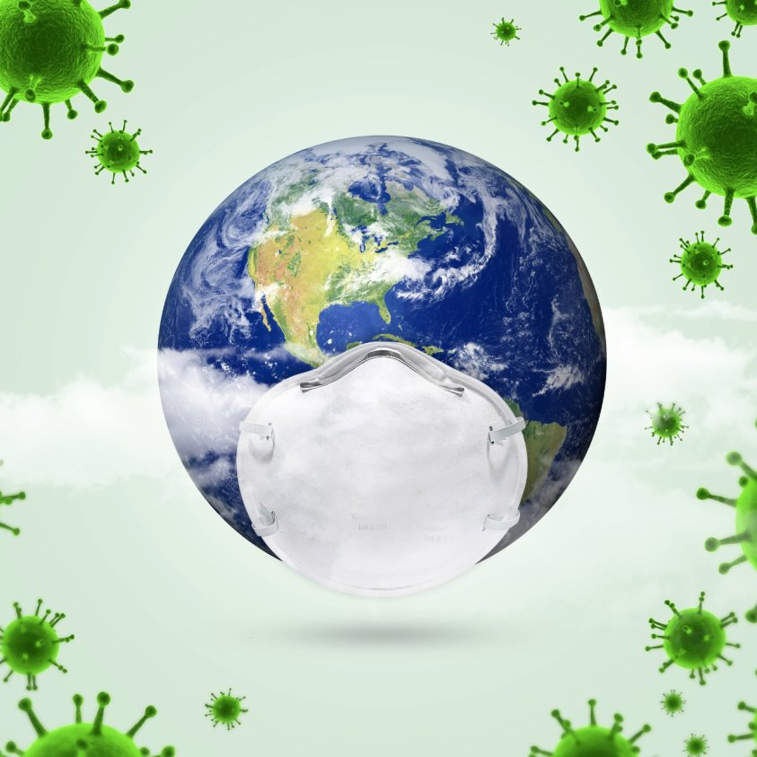 Whole world affected Earth is smiling and recharging