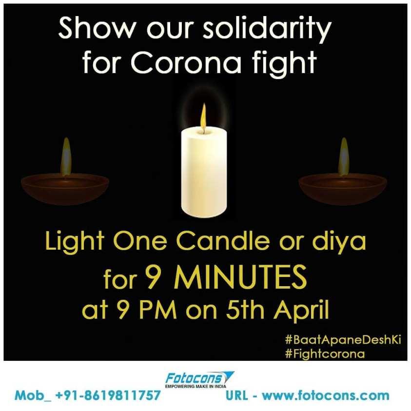Light Diya candle with mantra recitation