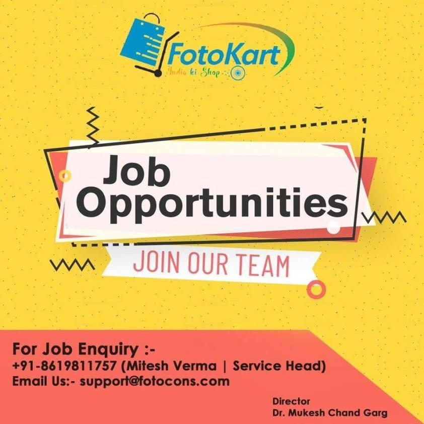 Job opportunity at Fotokart