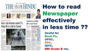 how to read newspaper