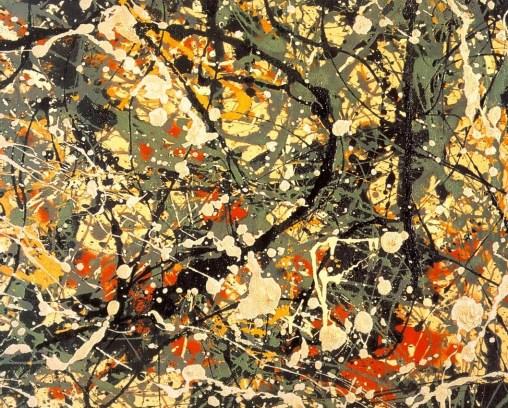 Detalle de la pintura Número 8 de Jackson Pollock, 1949