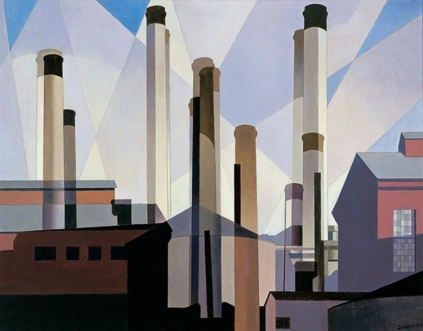 Charles Sheeler, Stacks in Celebration, 1954.