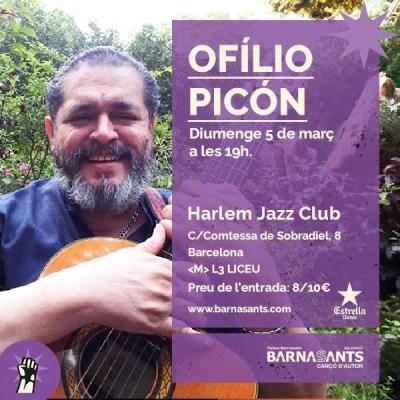 Cartel Ofilio Picón concierto Barnasants
