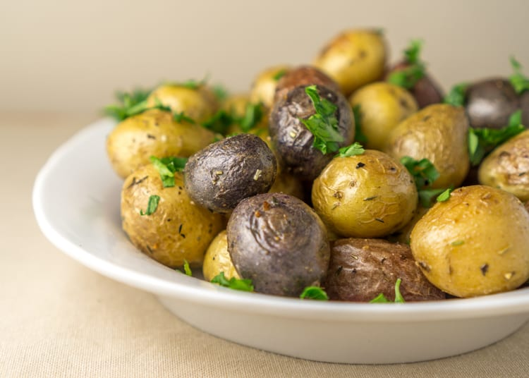 roasted young potatoes