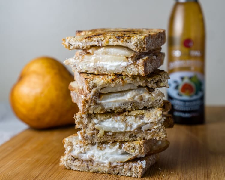 Pear and Goat Cheese Grilled Cheese