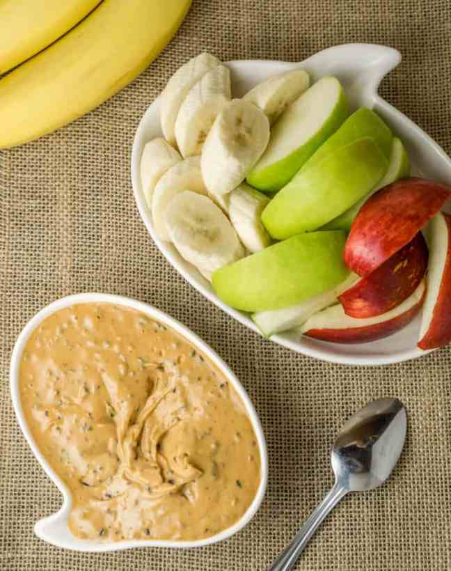 healthy peanut butter fruit dip