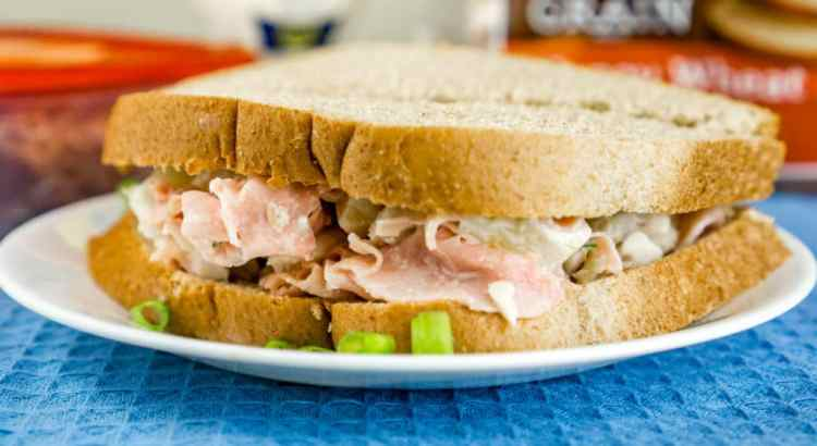 This delicious Hawaiian Chicken Salad Sandwich with pineapple and honey ham is made in 5 minutes using only 6 ingredients and will be a family favorite in no time! From http://www/babaganosh.org