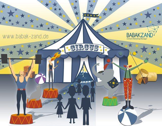 Content-Marketing als Oberbegriff beinhaltet eine Content-Strategie, eine Content-Marketing-Strategie und das operative Marketing. | www.babak-zand.de