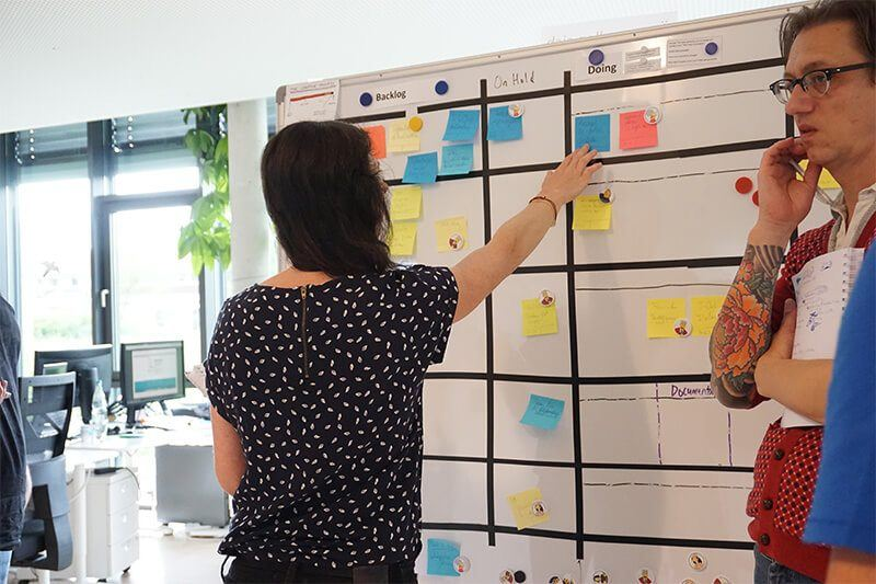 Scrum im Content-Marketing: Das Scrum-Board bei coliquio.
