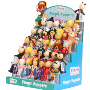 Finger Puppet Assortment- 48 Pieces & Display