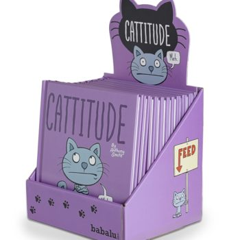 Cattitude Book with counter display