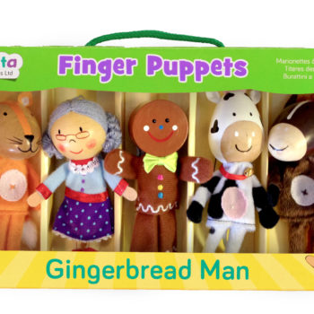 Gingerbread Man Finger Puppet Set