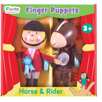 Horse and Rider Finger Puppet Set