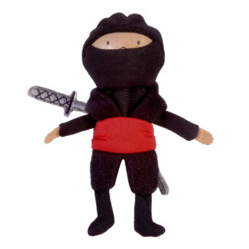 Ninja red finger puppet
