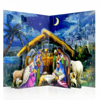 Nativity Scene 3D advent calendar