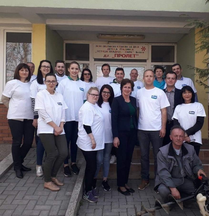 """Бимилк донираше садници во градинката """"Пролет"""" по повод првиот ден на пролетта"""