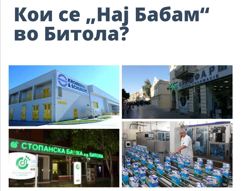 """Кои се """"Нај Бабам"""" битолски  компании со вкупен приход од 339 милиони евра?"""