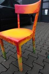 Designchair red/yellow 2014 Designstuhl rot/gelb 2014