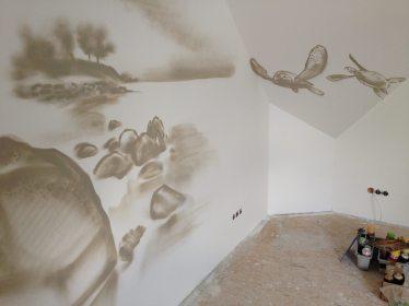 Wohnzimmer Wandgestaltung