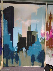 Skyline blue, 200 x 300 cm, 2013, private property