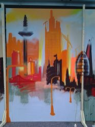 Skyline orange, 200 x 300 cm, 2013, private propertySAMSUNG