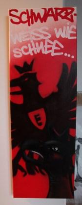 EFC SGE Adler 2013, 30 x 80 cm spraycan on framed canvas, 2013, private property