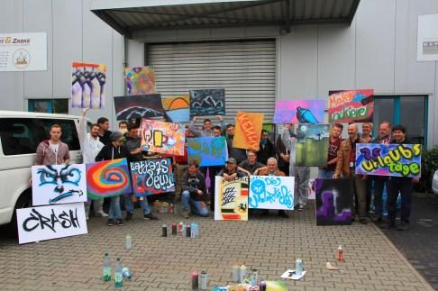 IG Bau Malerinnung Graffiti Workshop mit Malerazubis 2015