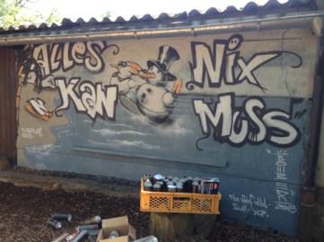 Montessori Zentrum Hofheim Graffiti Workshop 2015