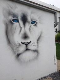 Lion Löwe 2019, Wiesbaden Fassade privat