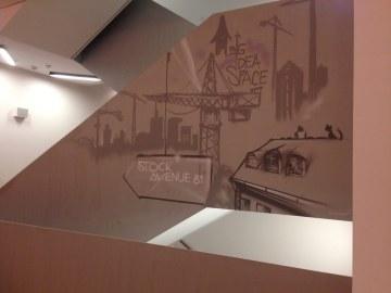 Lobby Painting Innside Ostend by Melia 2018