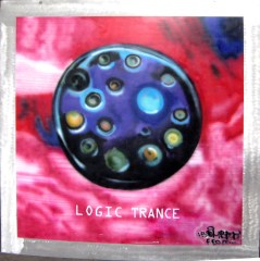 Logic Trance cover airbrush on steel, around 150 x 150 cm, 1993. now: MOMEM, museum of electronic music, Frankfurt