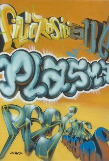 Dow Corning 200 x 300 cm Plasma, Spraycan on canvas