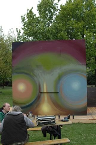 Hendocs Würfelprojekt Sinai Park, BOMBER Style inkl. Keilrahmen-Leinwand, Frankfurt 2010