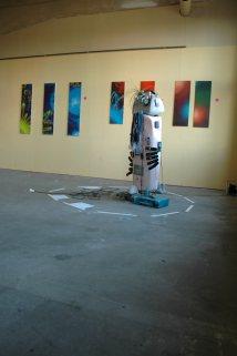 Skulptur 30 minutes of fame Route der Industriekultur Phrix Okriftel 2012
