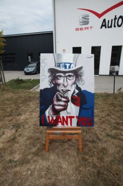 CETA TTIP Protest, I want you, Uncle Sam 2016