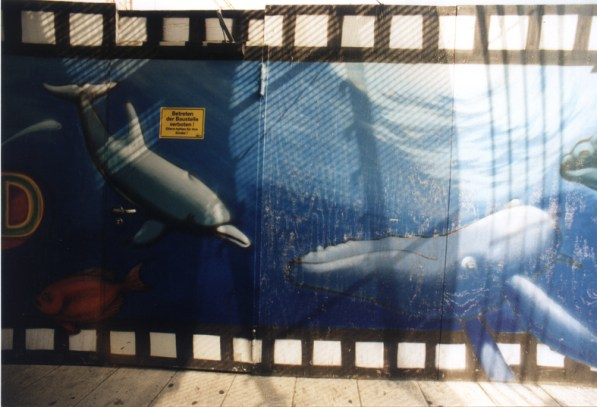 Zootiere, Unterwasser und Abenteuermotive auf 5 x 50 m (250 qm) Imax Themen Zeilgalerie Frankfurt Dachterrasse 1998
