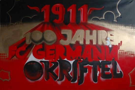 100 Jahre FC Germania Okriftel Bühnenleinwand, 2011