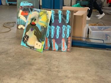 Ergebnisse des Urban Art Spray Workshop