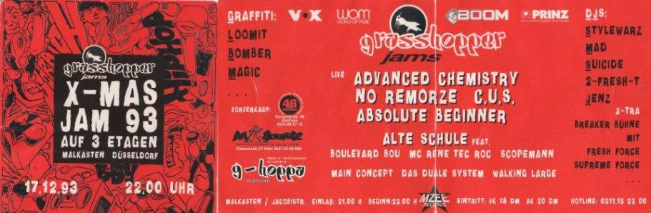 Grasshopper flyer (Logotype essohnesenf) 1994