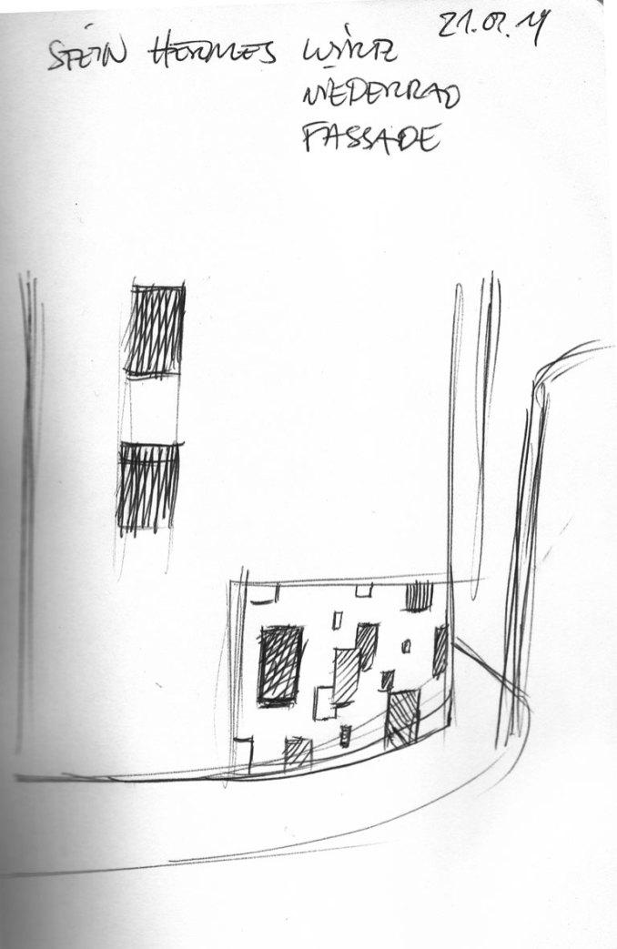 Sketch Muster/pattern. Triftstraße Niederrad Kunst am Bau © Helge W. Steinmann/VG Bild Kunst, Bonn 2019