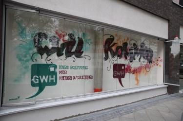 Willkommen Frankfurt REWE Graffiti 2017