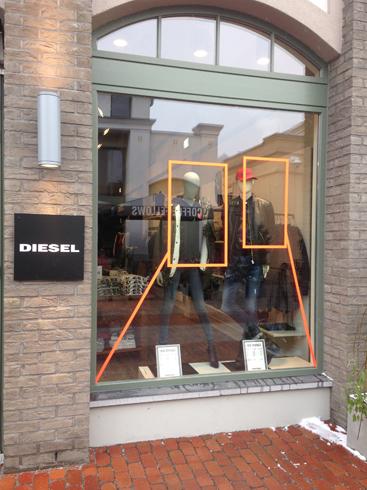 DIESEL store Ingolstadt Village Tape Art 2019