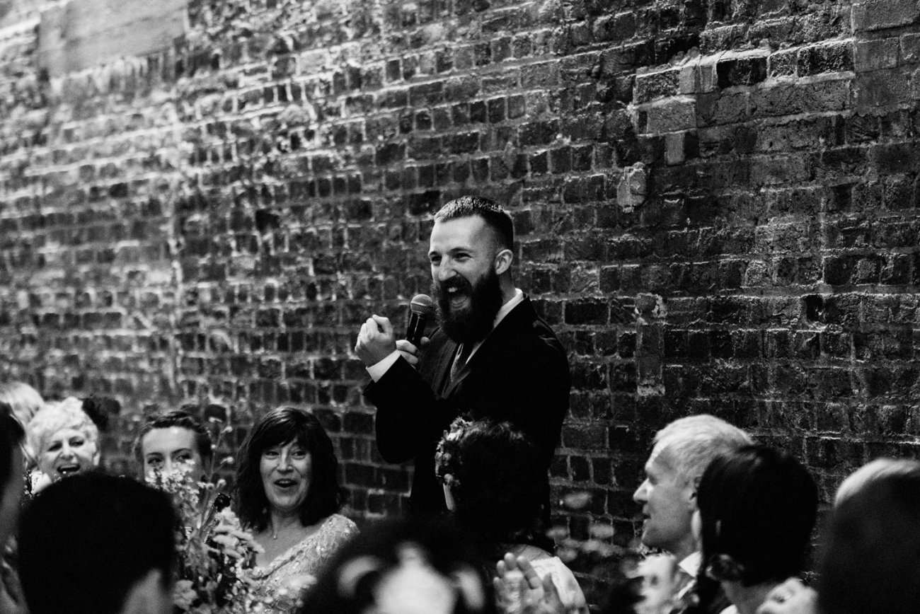 Fun Shoreditch groom delivers speech