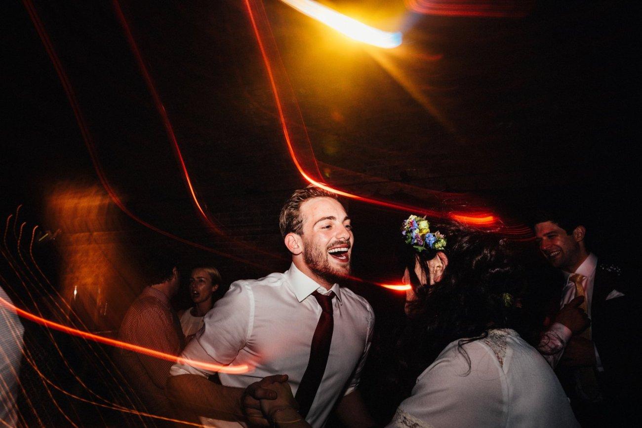 Fun Shoreditch wedding dancefloor