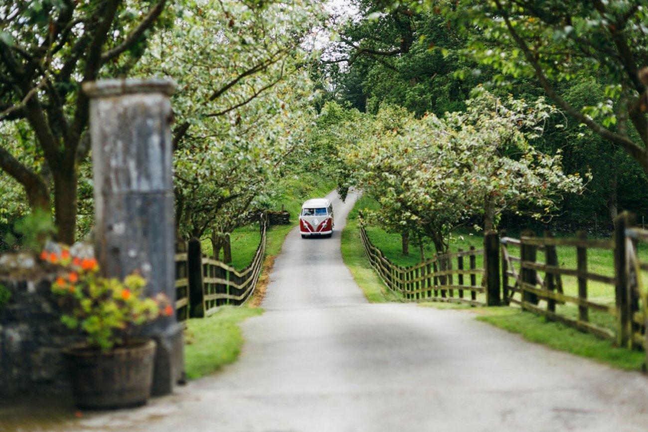 VW wedding car Lake Windemere