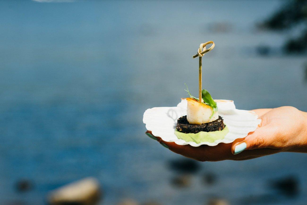 Lake Windemere wedding appetiser