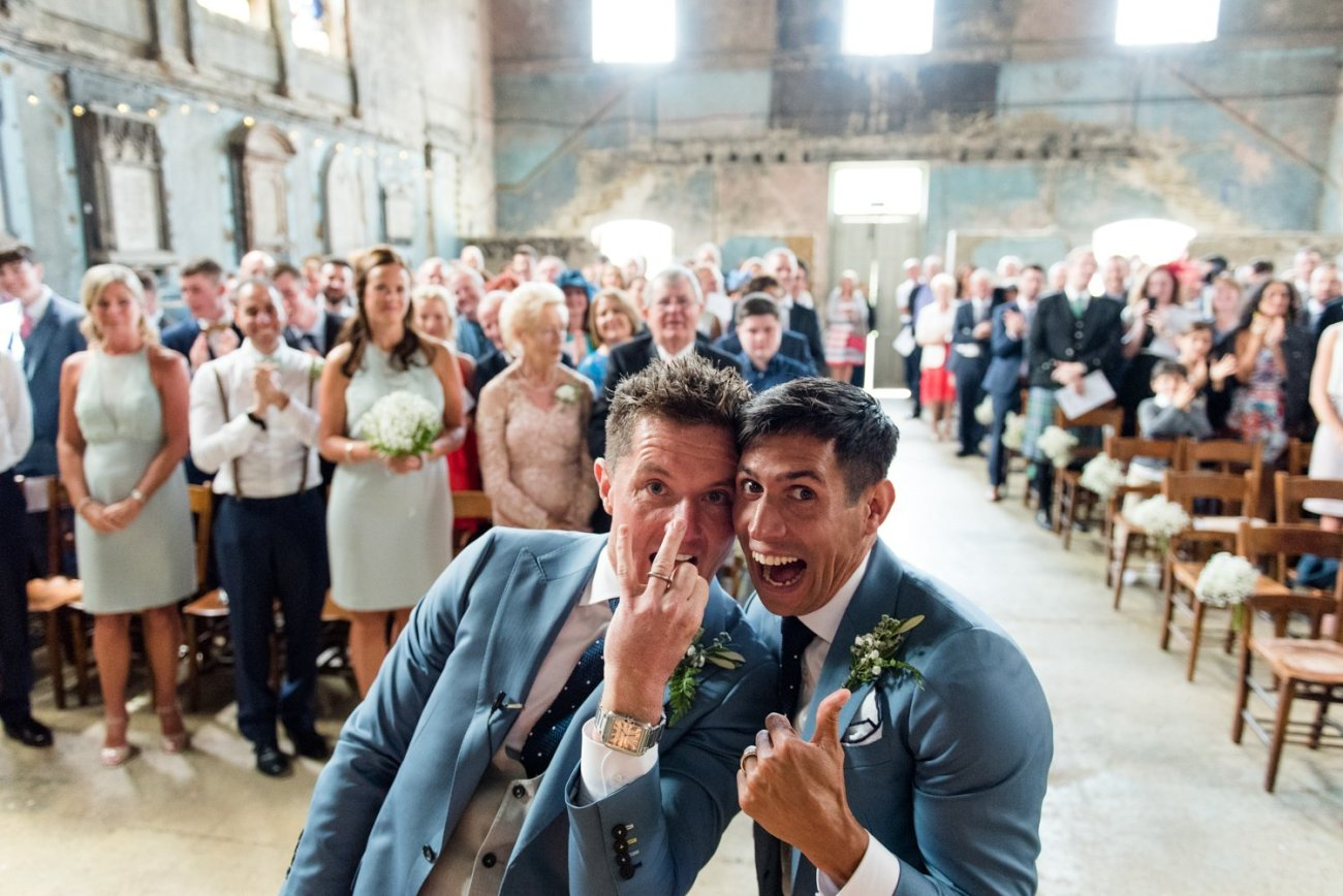 Quirky warehouse wedding photography London