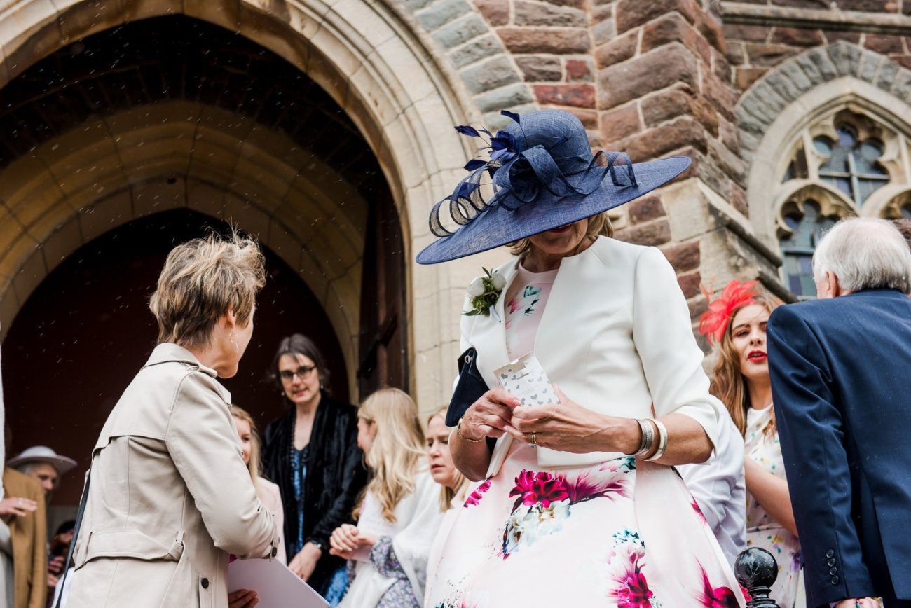 mother of the bride hat paintworks wedding photographer