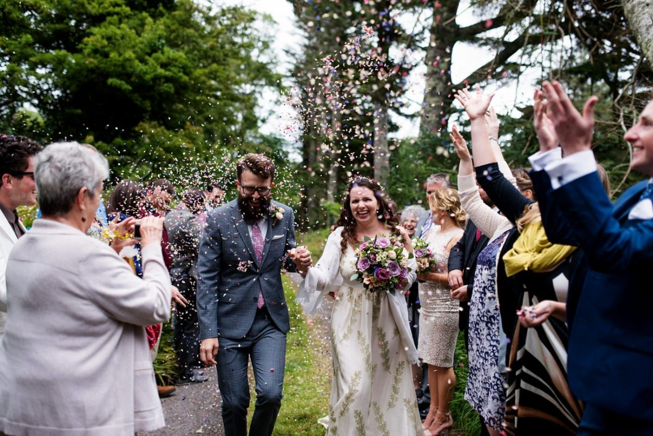 Alternative wedding photography wedding in nature